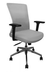 Silla de Oficina con respaldo en malla y asiento en tela